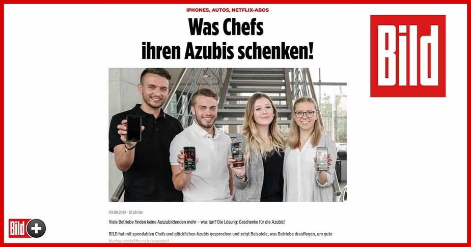 Internetartikel der Bild-Zeitung