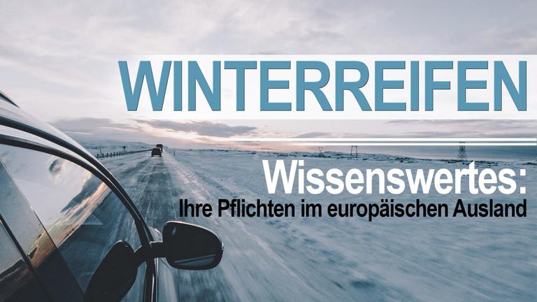 Auto in Winterlandschaft