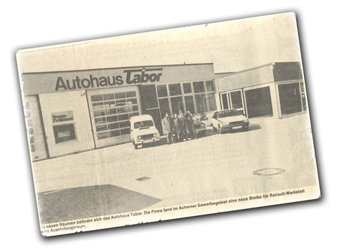 Autohaus Tabor Gründung
