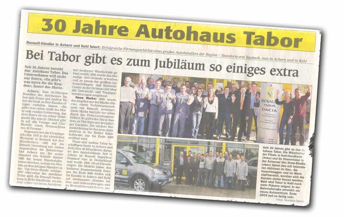 Autohaus Tabor - Jubiläum 30 Jahre