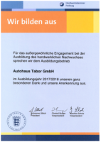 Dank und Anerkennung Handwerkskammer Freiburg