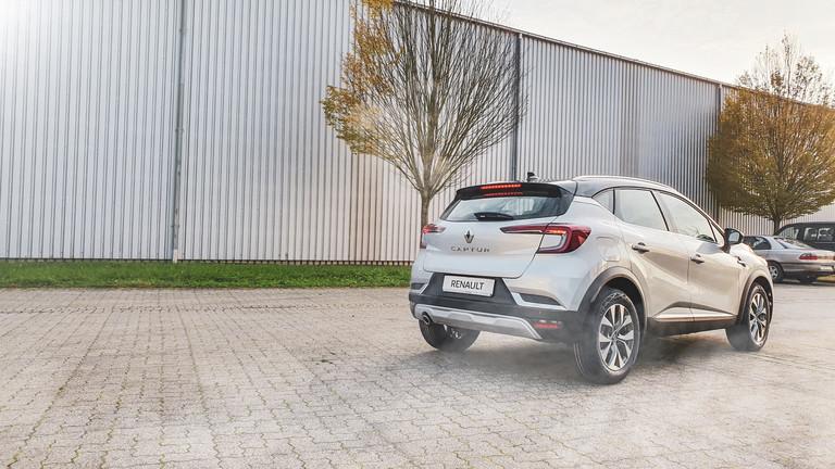 Heck Renault Captur silber