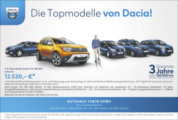 Aktion:Die Dacia-Topmodelle!