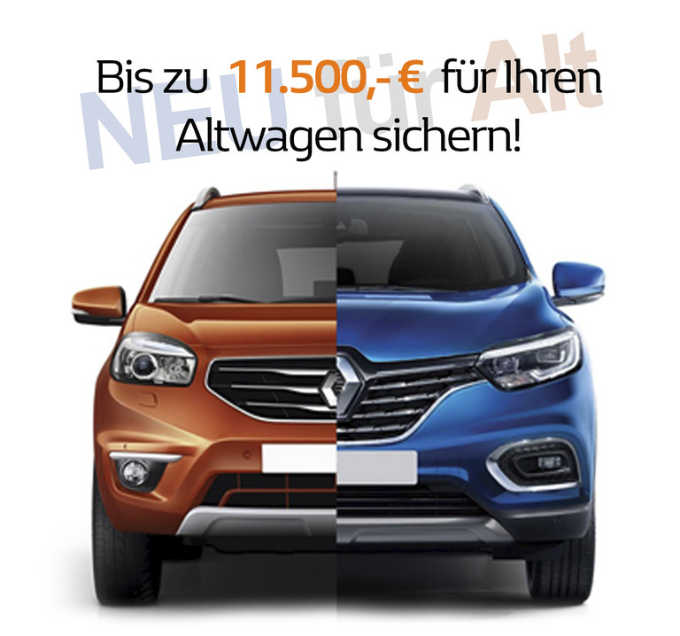 Renault Auto für Aktion Neu-für-Alt Prämie