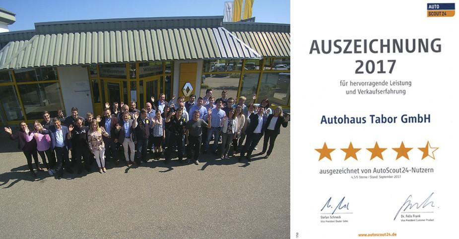 Urkunde für besten Autohändler 2017