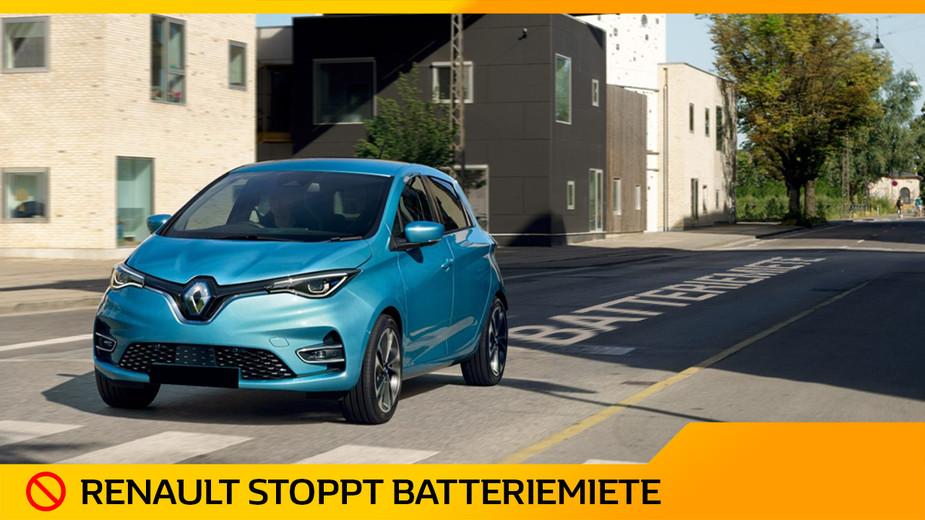 Renault stoppt Batteriemiete