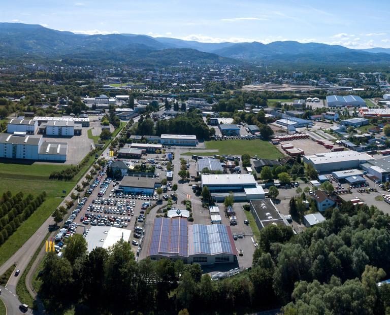 Luftaufnahme Autohaus Tabor