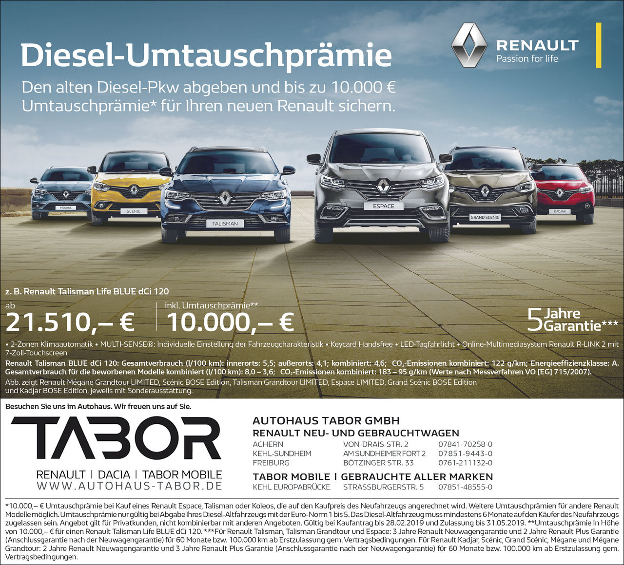 Aktion: Diesel Wechselprämie