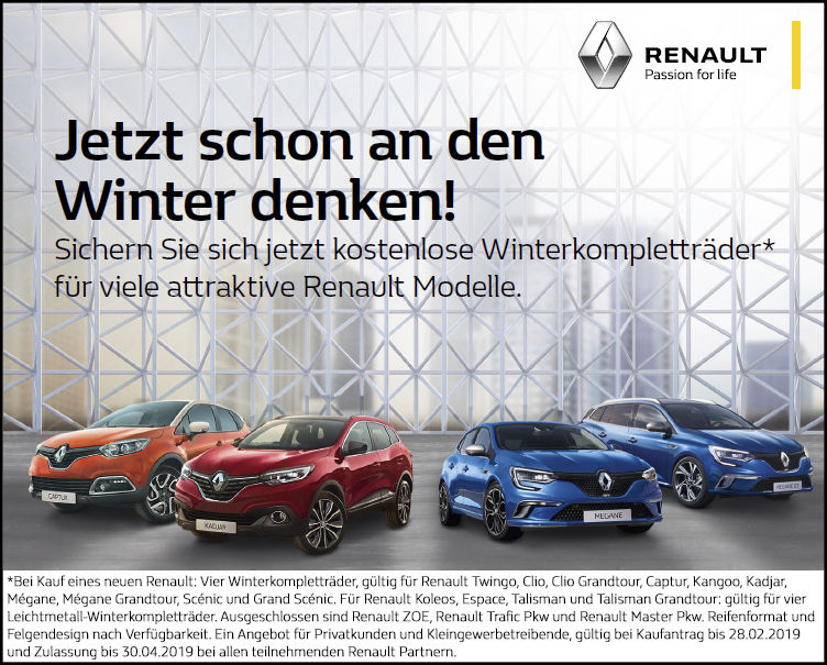 Aktion: Jetzt an den Winter denken!
