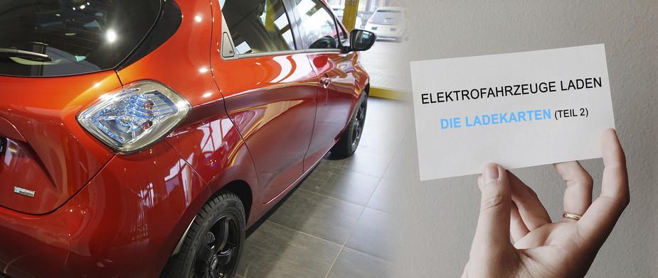 Renault ZOE in rot von hinten