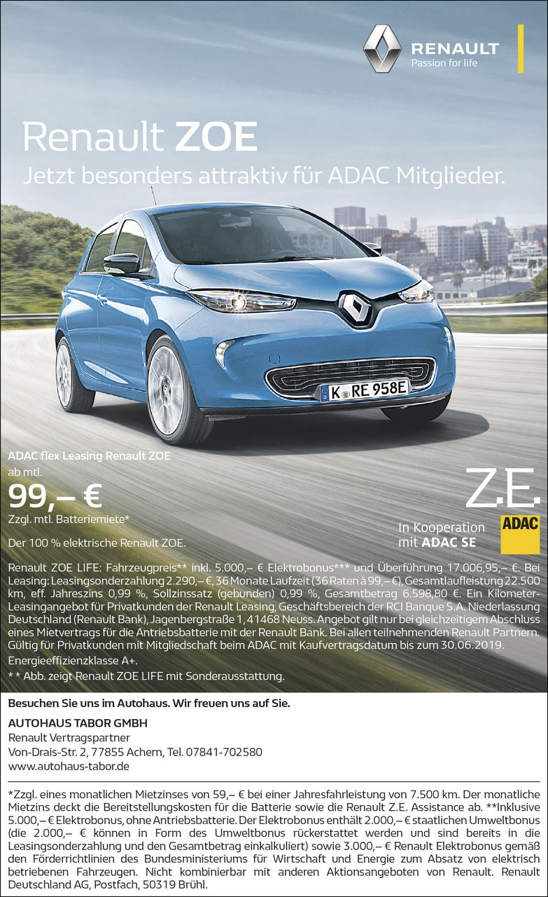 Aktion: Renault Zoe Elektroschock